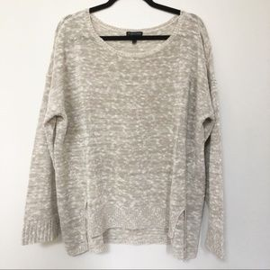 Eileen Fisher Oatmeal Open Weave Boxy Sweater XL